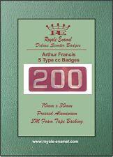 """Pressed Aluminium AF """"S Type"""" 200cc Replica Badge Arthur Francis Lambretta"""