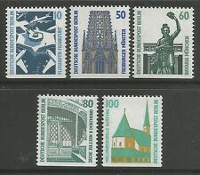 Berlin. Sg: B778a-87a. 1987. Tourist Sights Booklet Stamps. Mint Never Hinged. B
