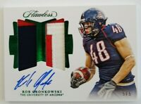 2018 Panini FLAWLESS ROB GRONKOWSKI 3 COLOR PATCH AUTOGRAPH NUMBER 5 Of 5, $159