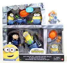 Minions Rise of Gru Secret Lair Gift Set w/ 6 Figures, Exclusive Otto Bob Kevin