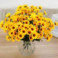 Fake Sunflowers Artificial Silk Flowers Bouquet Home Wedding Table Decor 14pcs