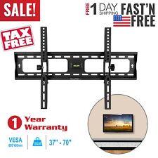 "Full Motion TV Wall Mount Swivel Bracket 42 50 55 60 65 70"" LED Flat Screen VESA"
