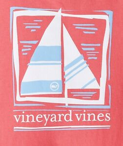 "Vineyard Vines ""Simple Sail"" S/S Pocket T-Shirt, NWT - Boy's M (12-14) + L (16)"