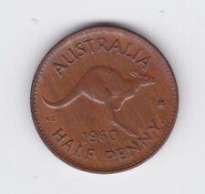 1960 Kangaroo Half Penny Coin Die Error Lump on right fork of Y Variety L-505