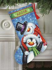 Dimensions 71-09153 Socke Weihnachten Satz Stickbild