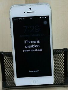 Apple iPhone 5 - 16GB - White & Silver (Locked) A1429 (CDMA + GSM)