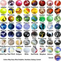 Mega Fun Marbles Player Bundle - Pack of 57 Different Styles in 14mm & 15mm