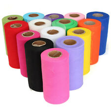 "Tulle Roll Spool 6""x100Yard Tutu Circle Skirt Fabric Party Wedding Craft Decor"