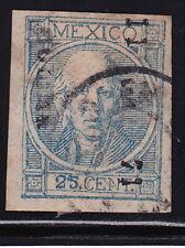 MEX 1868  25c #61 COLIMA 11-71 (RGL9) SPOT OF COLOR BETWEEN 2&5 SK#181(H877)