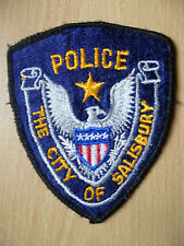 Patches: THE CITY OF SALISBURY POLICE PATCH (New, approx.4.7x 3.12 inch)