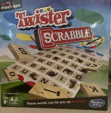 Game Mashups Twister Scrabble Game Board Family Fun! Ages 8+  2-4 Players