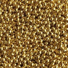 200X Gold Tone Iron Spacer Bead 3mm Round Metal Jewellery Making Loose Beads