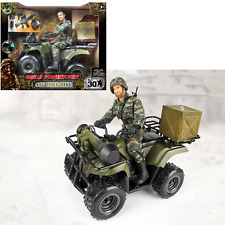 World PeaceKeepers Army Military 12 Inch ATV Vehicle Toy Playset With Figure