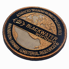 BLACKWATER WORLDWIDE U.S. ARMY 3D MORALE BADGE TACTICAL PATCHES EMBROIDERY PATCH