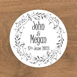 Personalised Wedding Stickers Favour Labels (E-012)
