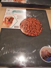 """NEW Pet Trends Pet Placemat Non-Slip 14"""" x 18"""" - Choice BLUE or GRAY"""