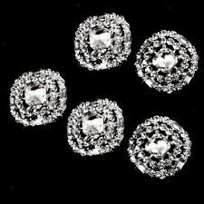 5x Diamante Rhinestone Round Shank Buttons Sewing Buttons Embellishment 23mm