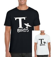 T BIRDS GREASE T SHIRT FILM 1970's MUSICAL FANCY DRESS DANNY ZUKO PARTY OUTFIT