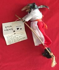 Witch - Flying/Hanging - Good Luck Witch Original Tag-With Hallmark Globe Witch
