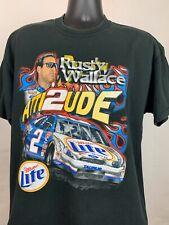 Vintage 90s Rusty Wallace Miller Lite NASCAR Beer Promo Shirt Size L