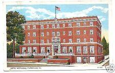 Linen Postcard Hotel Weyanoke Farmville VA 1936