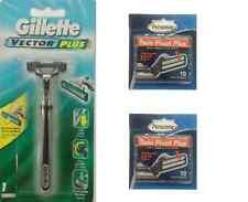 Gillette Vector Plus Razor + 30 Personna Twin Pivot Plus Cartridges