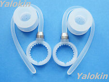 2 White Earhooks and  Earbuds for Motorola Elite Flip HZ720 H17 H17txt Bluetooth