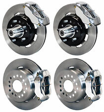 "WILWOOD DISC BRAKE KIT,55-57 CHEVY 150,210,BEL AIR,12"" ROTORS,POLISHED CALIPERS"
