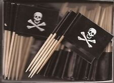 LOT OF 3 BOXES Jolly Roger Pirate Toothpick Flags, 300 pirate toothpicks per box