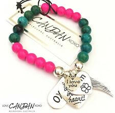 I Love You Mum Bracelet Xoxo You Are Always In My Heart Angel Wing Charms Gift
