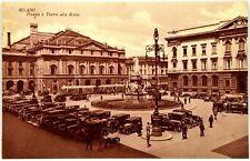 Cartolina Formato Piccolo - Milano - Piazza E Teatro Alla Scala Non Viaggiata