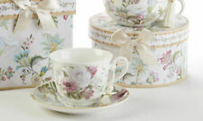 Delton Products Pale Rose 3.6 inches Porcelain Cup/Saucer in Gift Box, 8120-0