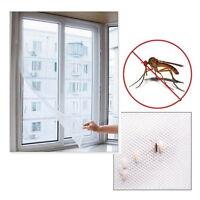Fliegengitter Insektenschutz Fenster Gaze DIY mit Kleber Weiß 130cmx150cm Neu