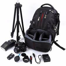Waterproof Shockproof Camera Laptop Bag Lens Case Backpack Canon Nikon SLR DSLR