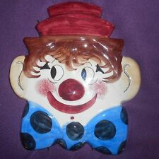 la Musa ,italian pottery clown head wall hanging