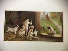 """ORIGINAL 1895 CHROMOLITHOGRAPH DOG PRINT """"A DISGRACE TO THE FAMILY"""" BY KNAPP CO."""