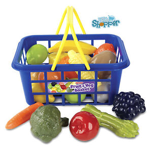 Shopping Basket Toy with Fruit and Vegetable Childrens Pretend Play Casdon