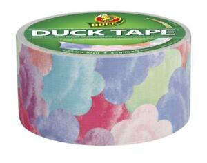 Printed Duct Tape Clouds pastel 1.88 inch  10 Yards