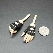 """1:6 CY Girl Female Black Fingerless Glove Hands 12"""" BBI Phicen TBLeague CZ"""