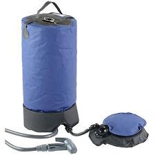 Solardusche: Tragbare Druck-Campingdusche mit Fußpumpe, 11 Liter (Dusche)