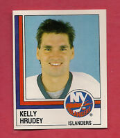 RARE 1987 ISLANDERS  # 90 KELLY HRUDEY GOALIE  STICKER CARD