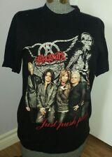 Steven Tyler Aerosmith Groupie black (Med) JUST PUSH PLAY World Tour TShirt 2001