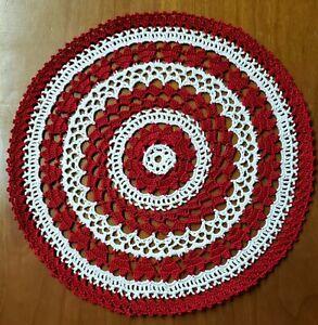 Hand Crochet Valentine's Heart Doily - **NEW** - Lone Star Lace