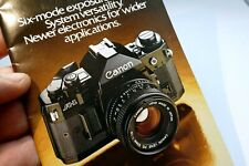 """Canon A-1 camera """"New Generation"""" Sales Accessory Brochure System guide 1981"""