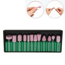 12pcs Nail Art Electric Polish Buffer Drill Bits Replacement Salon Tools Set
