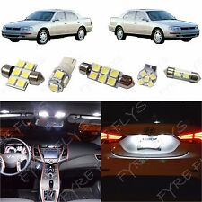 7x White LED lights interior package kit for 1992-1996 Toyota Camry TC7W