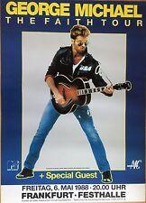 GEORGE MICHAEL  1988  FRANKFURT   ++   Tour Poster -- 84 x 59 cm