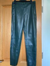 Zara faux leather trousers size m