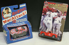 '99 MAISTO MARK MCGWIRE STOCK CAR & '02 WOLRD SERIES MLB ANGELS RED TRUCK 1:64