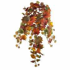Fall leaves trailing Maple bush 3ft artificial silk leaf Fall decoration